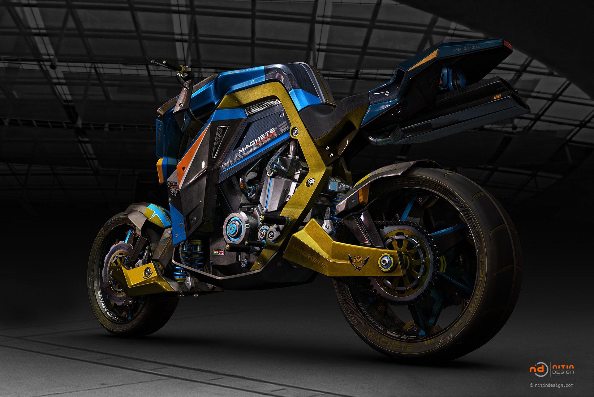 Machete-Motorbike-Nitin-Design-