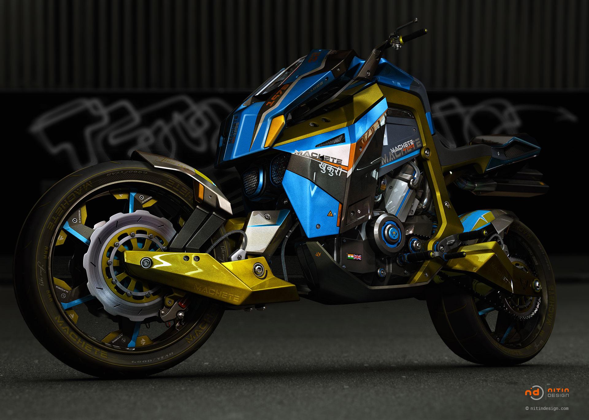 Machete-Motorbike-Nitin-Design