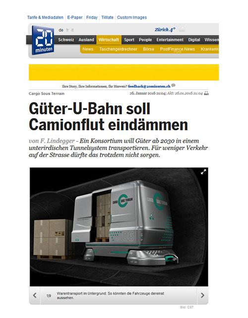 Cargo sous terrain- Nitin-Design